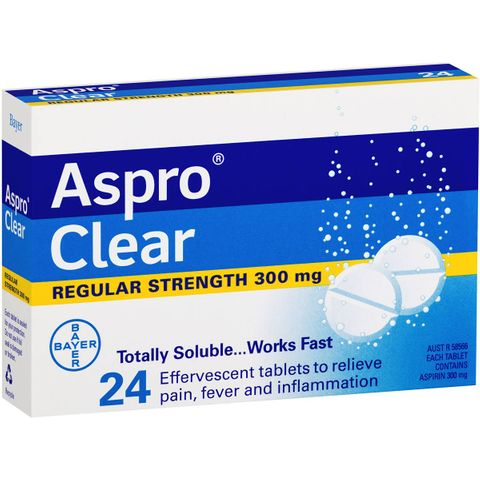 ASPRO CLEAR SOLUBLE TABLETS 24 PACK