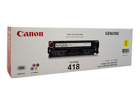 CANON CART418 YELLOW TONER - 2900 PAGES -CQS5