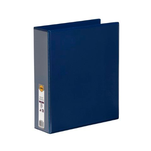 A4 2D RING 50MM BLUE MARBIG CLEARVIEW INSERT BINDER