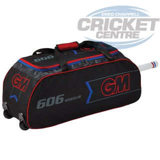 GUNN & MOORE GM GM 606 WHEELIE BAG BLACK/RED/BLUE