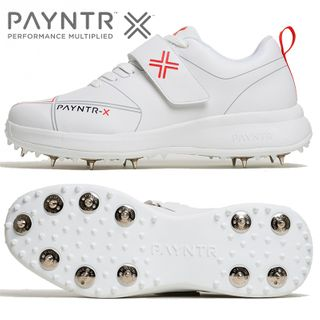 PAYNTR X CRICKET BOWLING SPIKE WHITE