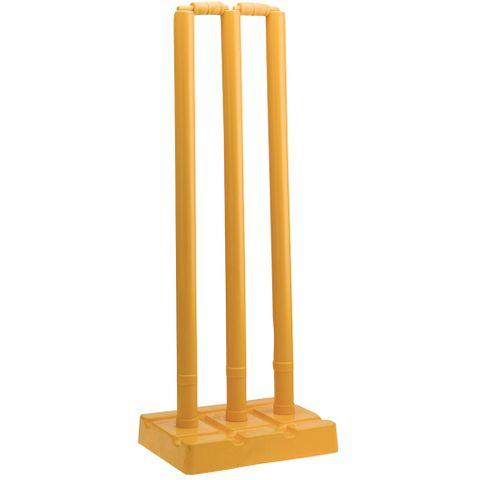 PLAY CRICKET PLASTIC STUMP SET YELLOW