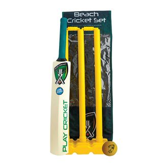 PLAY CRICKET BEACH SET - BAT/BALL/STUMPS