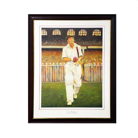 BRADMAN - WALKING ONTO MCG
