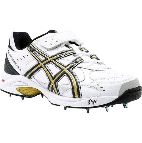 ASICS SPEED MENACE LO CRICKET SPIKE BLK/GOLD PAIR