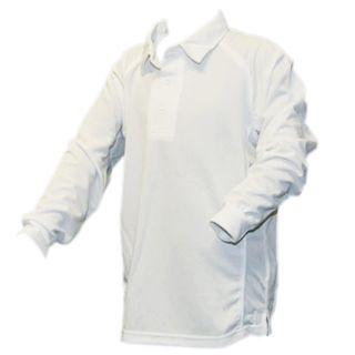GCCC BODYLINE LONG SLEEVE SHIRT WHITE