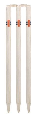GRAY-NICOLLS GN SHIELD PLAIN STUMPS + BAILS (SET OF 6 WITH BAILS)
