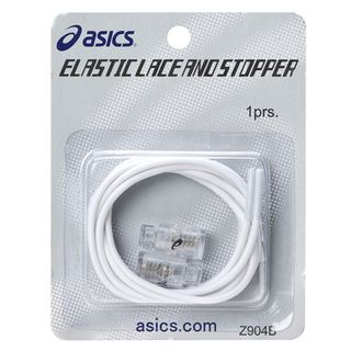 ASICS ELASTIC LACES AND STOPPER WHITE