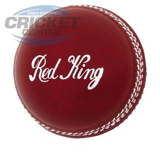 KOOKABURRA RED KING 2 PIECE CRICKET BALLS RED