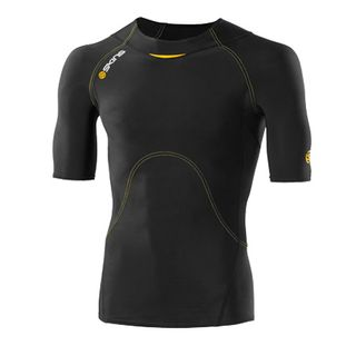 SKINS A400 BLACK SHORT SLEEVE TOP YOUTHS