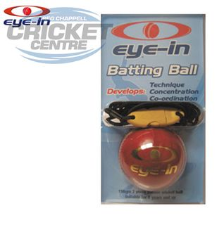 EYE-IN BATTING BALL - LEATHER BALL ON STRING