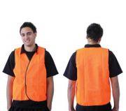 SAFETY VEST FLURO ORANGE DAY USE - 2XL