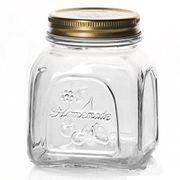 PASABAHCE GLASS JAR WITH METAL LID 0.3L