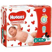 HUGGIES NAPPIES ESSENTIAL INFANT 4-8KG / 216