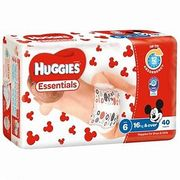 HUGGIES NAPPY ESSENTIAL SIZE 6 JUNIOR / 160  (24)