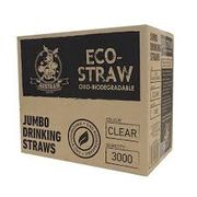 BIODEGRADABLE ECO JUMBO STRAW CLEAR