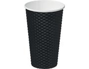 MPM CUP 16OZ DIMPLE BLACK (20)