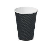 MPM CUP 12OZ DIMPLE BLACK (25)