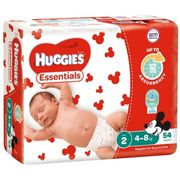 HUGGIES ESSENTIAL NAPPIES INFANT / 216 4-8KG
