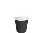 4oz SINGLE WALL CUPS - BLACK PKT 50