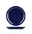 AFC H/CARE ROUND NARROW RIM PLATE 160MM BLUE / 12