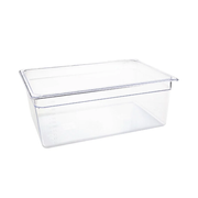 VOGUE CLEAR POLYCARBONATE 1/1 GASTRONORM TRAY200mm