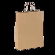 TWIST HANDLE #18 MEDIUM BROWN BAG (SYDNE