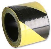 BRADY YELLOW/BLACK HAZARD TAPE 75MM X 300MT