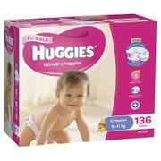Huggies Nappies - Crawler Girl / 120