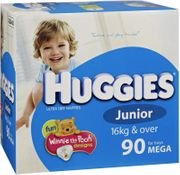 Huggies Nappies - Junior Boy / 96