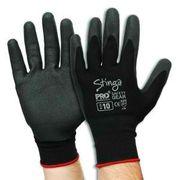 STINGA BLACK PVC FOAM GLOVES SZ 9/L / PAIR
