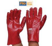 RED PVC GLOVE 27 CM / PAIR