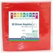 2PLY LUNCHEON NAPKIN RED / 50 PK