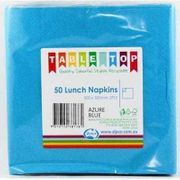 2PLY LUNCHEON NAPKIN AZURE BLUE / 50 PK