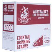 AUSTRAW COCKTAIL STRAW BLACK / 5000