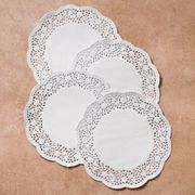 *WHITE LACE DOYLEY ROUND 6.5IN