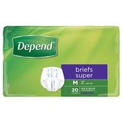 DEPEND BRIEF SUPER - MEDIUM 3PK X 20