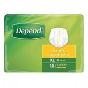 DEPEND BRIEF SUPER PLUS - X/LARGE 4PK X 15
