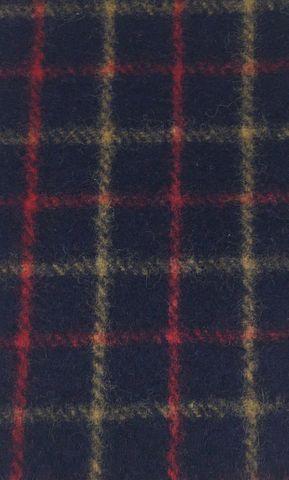 Wool Collar Check - Navy