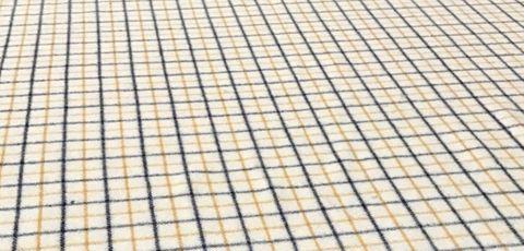 Wool Collar Check - Cream