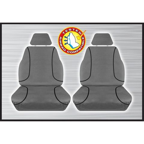 Tradies Grey Front Seat Cover - Triton 2015+ (pair)