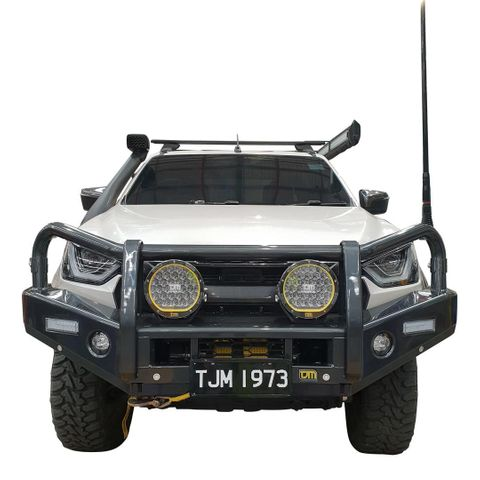 TJM Outback Bull Bar T13 Steel Black D-Max 08/20+