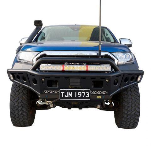 TJM Chaser Bull Bar Steel Black Ranger PX1 PX2 PX3