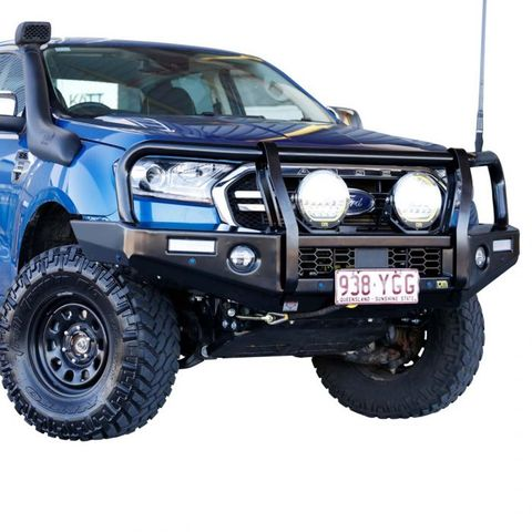 TJM Outback Bull Bar T13 Steel Black Ranger PX3