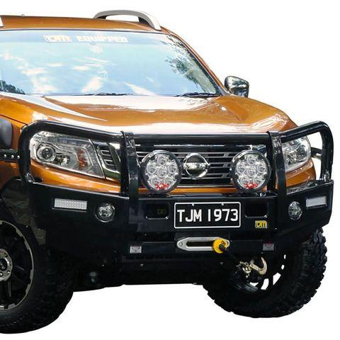 TJM Outback Bull Bar T13 Steel Black Navara 2015+