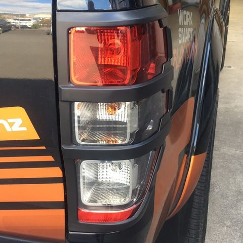 Ranger Tail Light Trims Matte Black