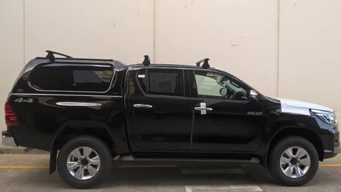 2016+ Hilux Buddy 3 Bar Vortex Track Mount Black