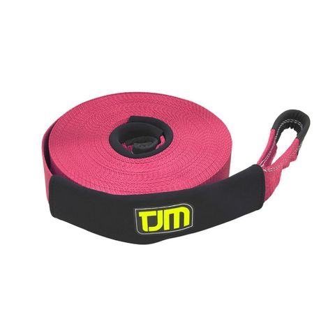 TJM Red Winch Strap 10m 4T