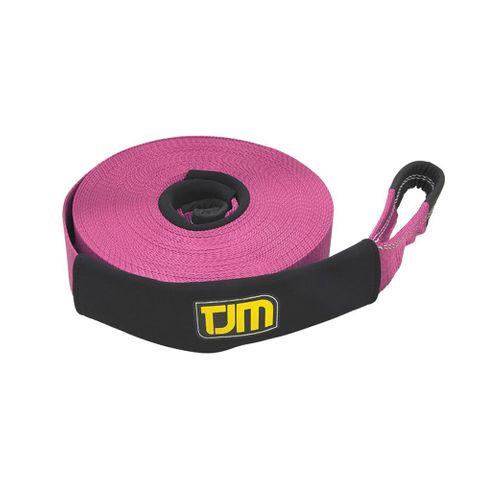 TJM Pink Winch Ext Strap 20m 4T