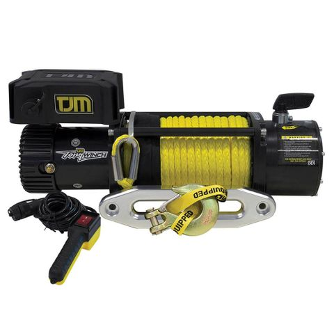 TJM Torq Electric Winch 9500LB (4300kg) incl Synthetic Rope